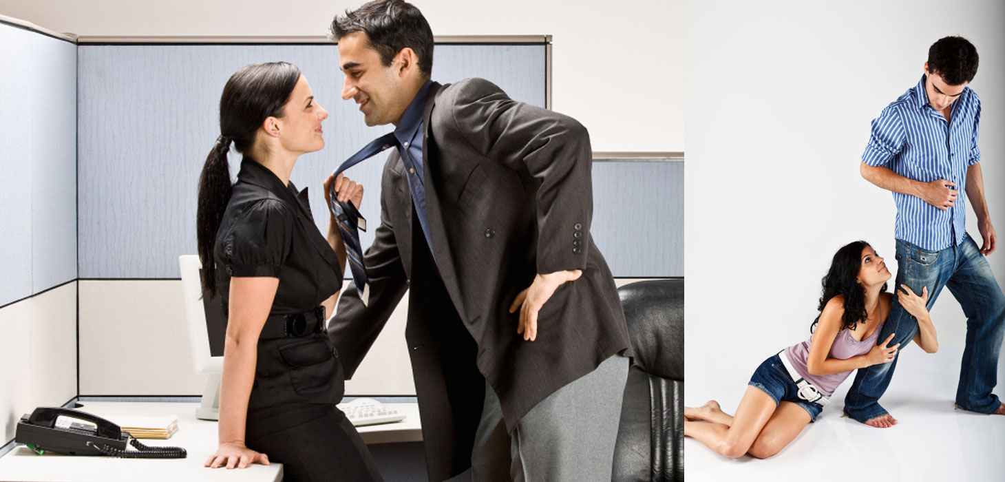 Woman feeling attracted to a guy who is displaying some alpha male characteristics