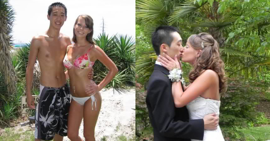 Asian guy marrying a white girl