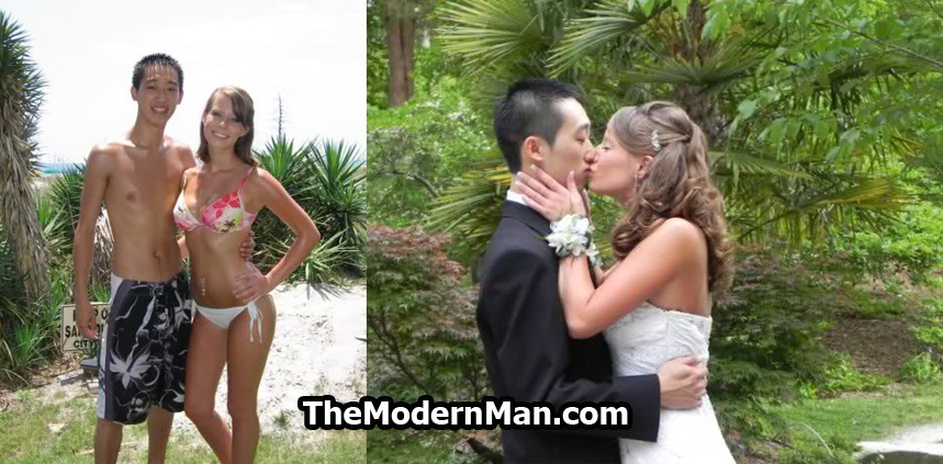 Asian guy marries white girl. She finds him attractive