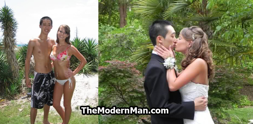 Asian guy marrying pretty white girl