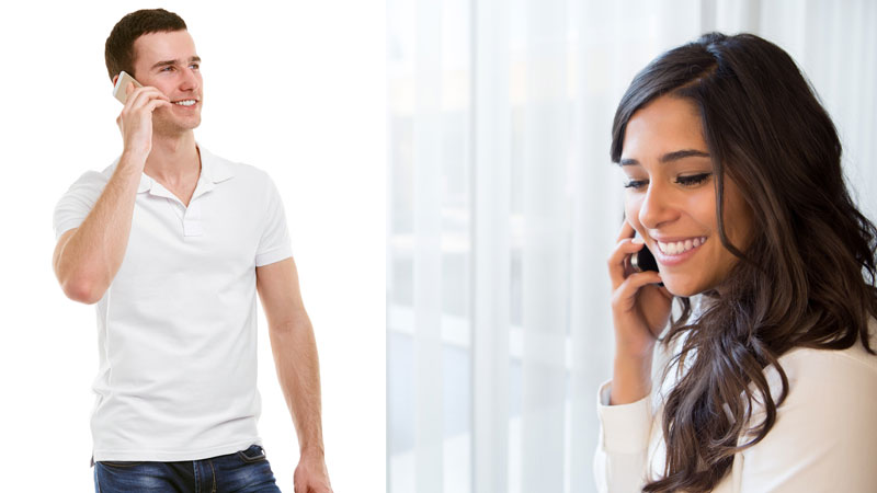 Attract her over the phone, rather than trying to convince her
