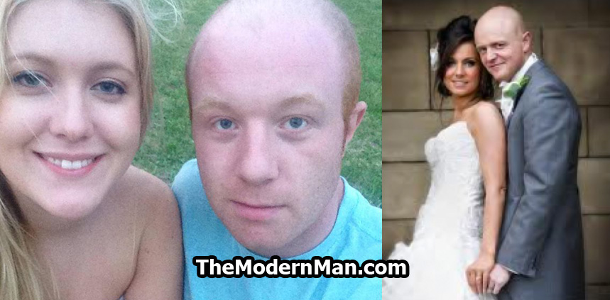 Bald guy with pretty woman. She finds him attractive