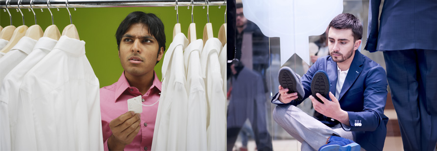 Buying clothes in the hope that it will make his ex girlfriend feel jealous