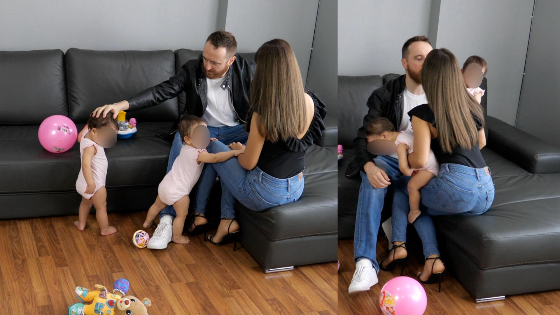 Dan Bacon - wife and twin girls