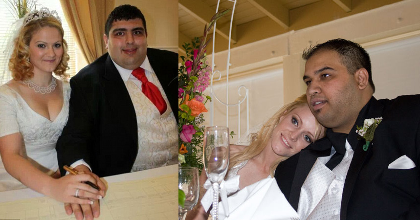 Fat guys getting married