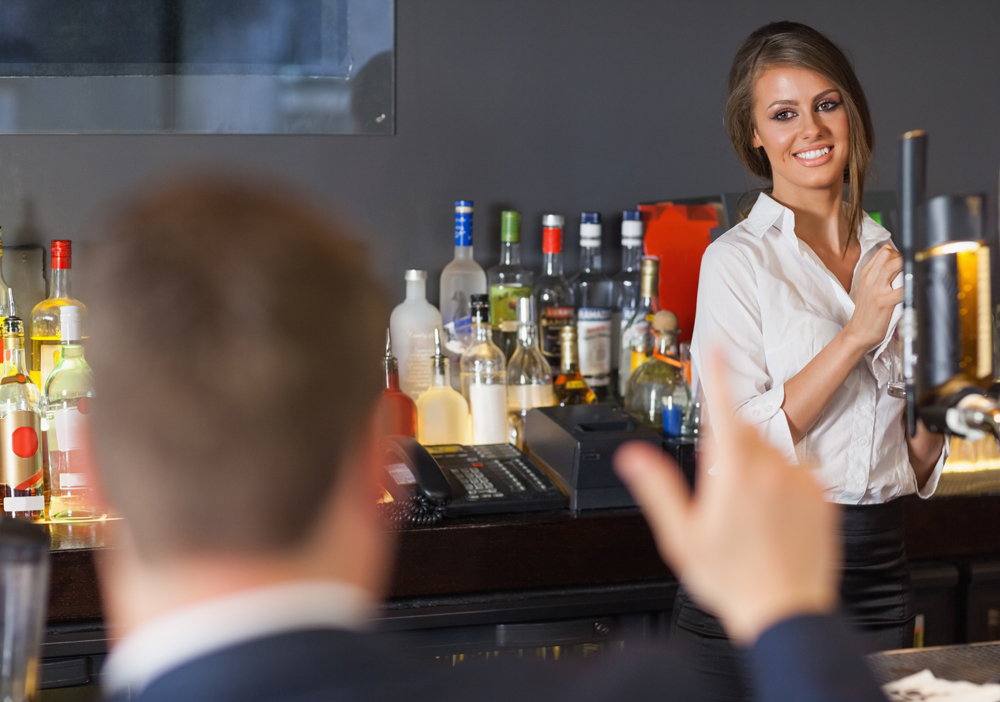 How to pick up a female bartender