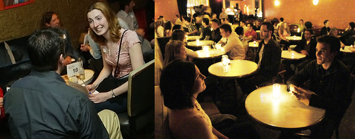 Finding single women at speed dating events