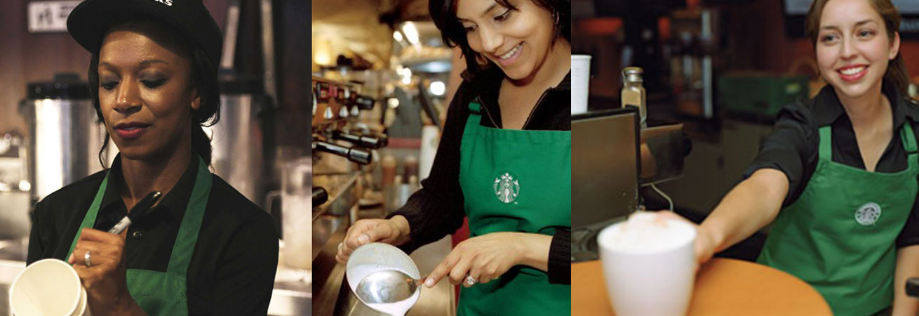 Flirting with a Starbucks girl