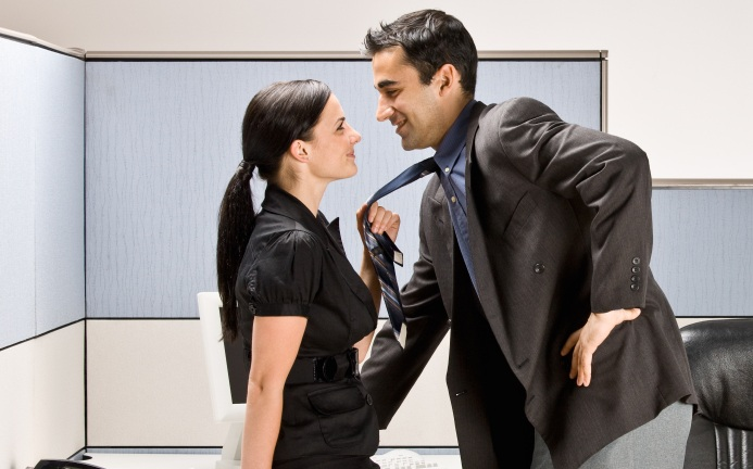 How to flirt with a woman at work