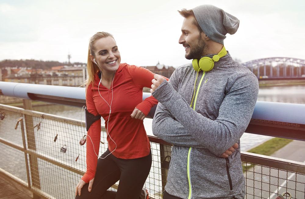 How to talk to a woman who is wearing headphones