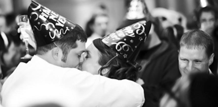 Kissing at midnight