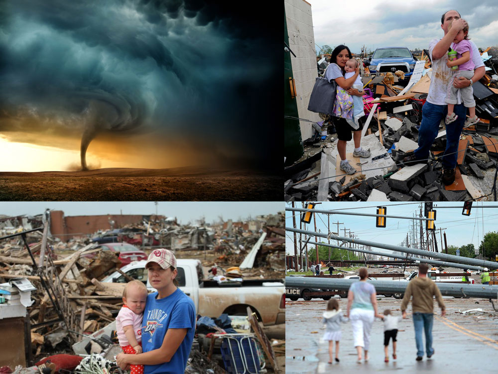 Life isn't always easy. Humans are often just a hurricane or natural disaster away from basic survival