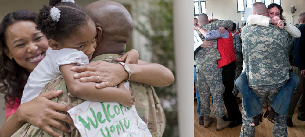 Long distance relationship: Soldier returning home