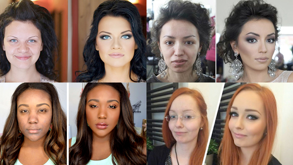 Make up tricks men into thinking that women are more attractive than they are