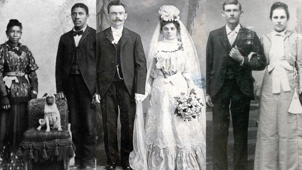 Marriages around the year 1900