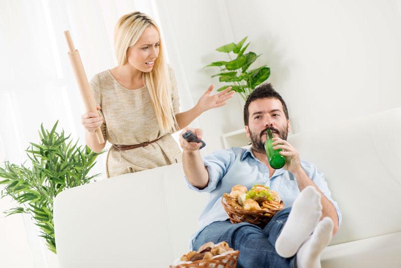 Wife digs in husbands ass