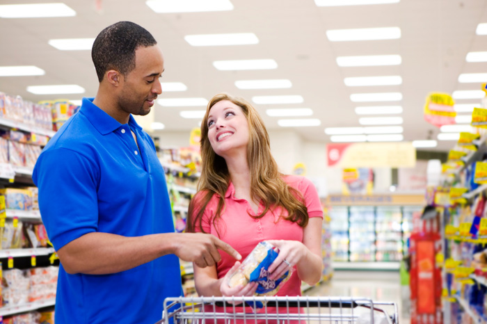 Picking up women in a supermarket or grocery store