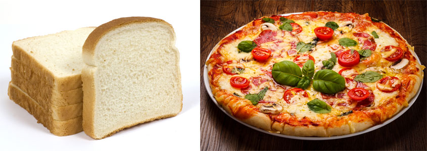 Pizza vs bread