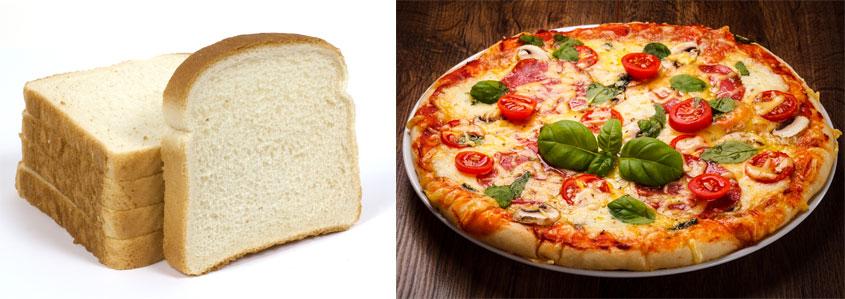 Pizza vs bread