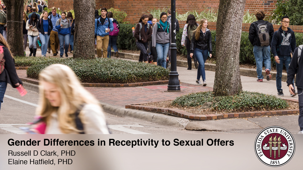Science of attraction: Gender differences in receptivity to sexual offers