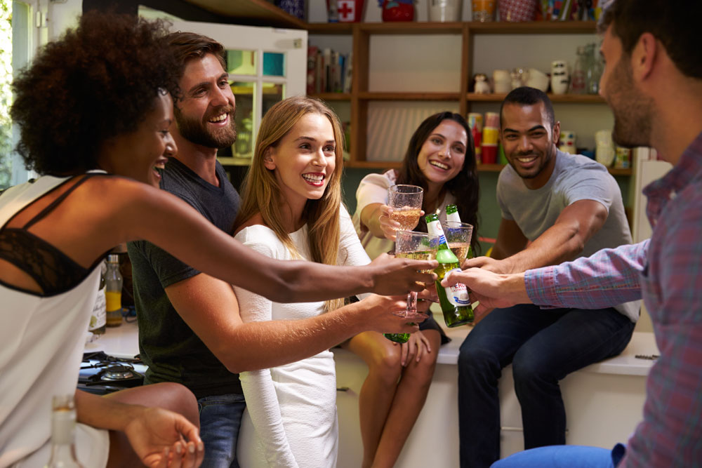 Sexual conversation at a party