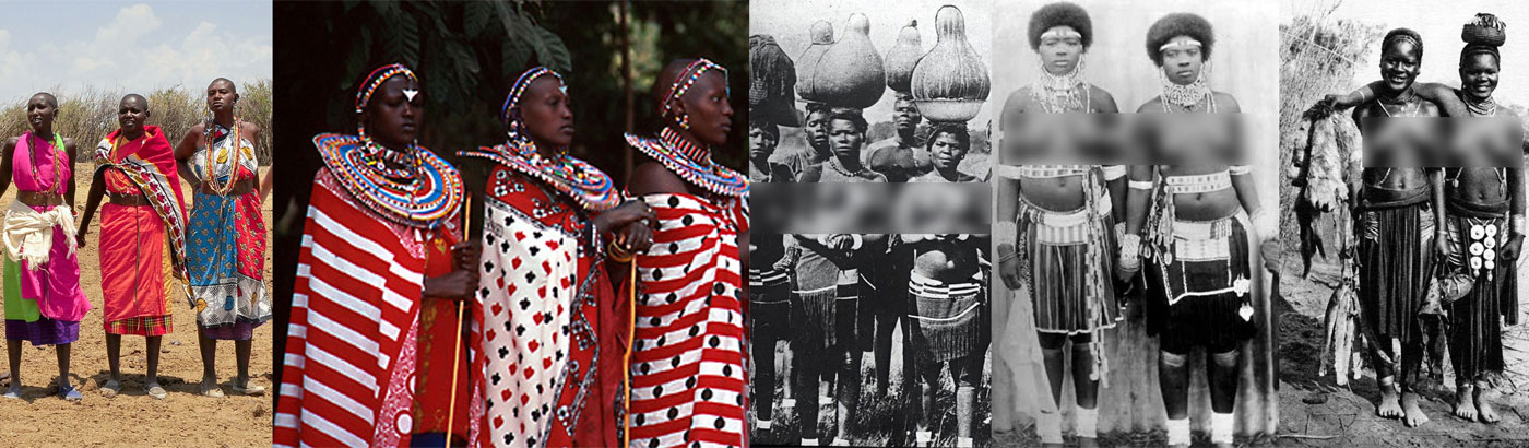 Tribal women usually cover their thigh gap