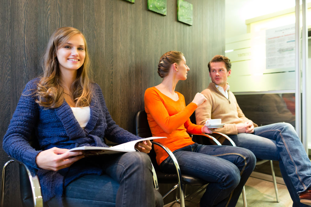 Waiting room - flirting