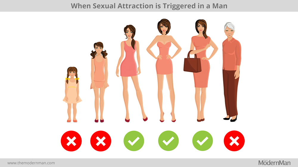 When sexual attraction is triggered in a man