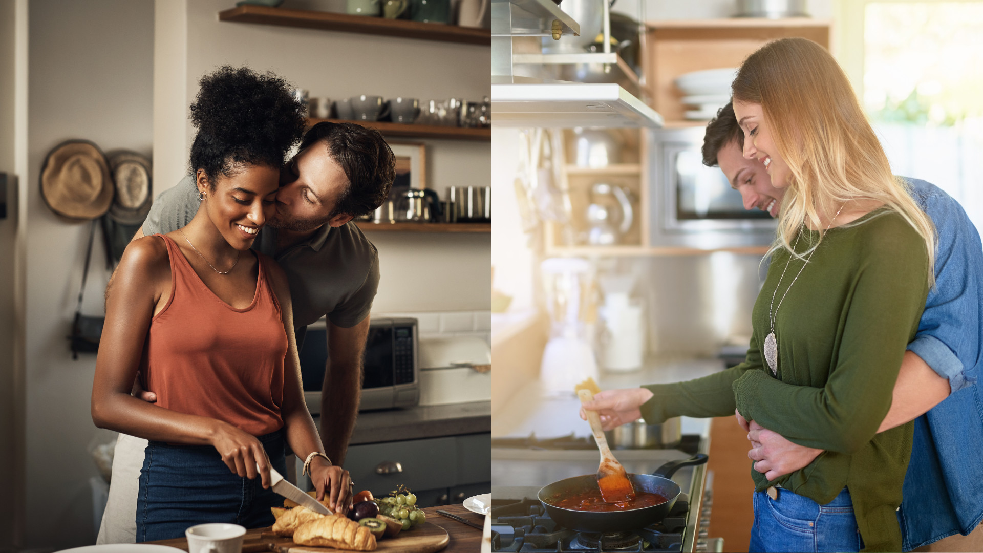 Woman cooking to impress a guy that she wants to commit to her