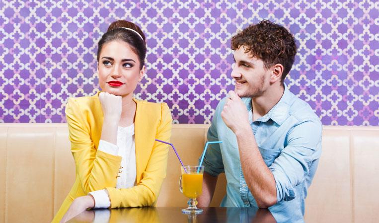 Woman feeling bored by nice guy