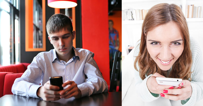 Woman testing her ex boyfriend
