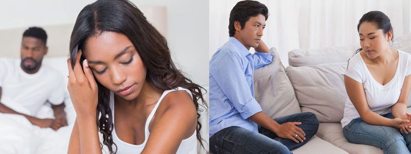 Woman trying to gain power over boyfriend