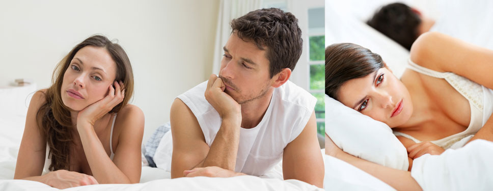 Woman feeling insecure about her attractiveness in the bedroom