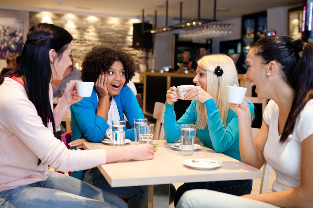 Women gossiping about men