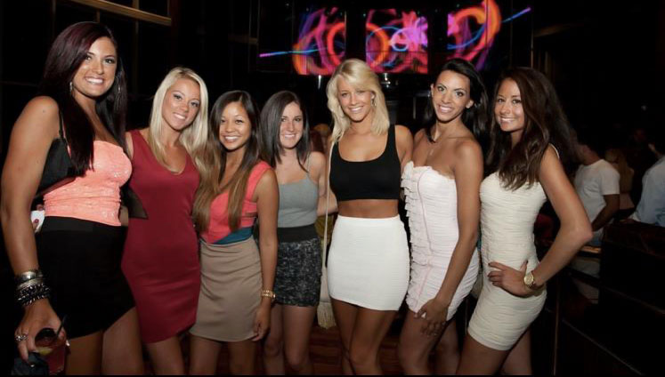 Group of women in a nightclub