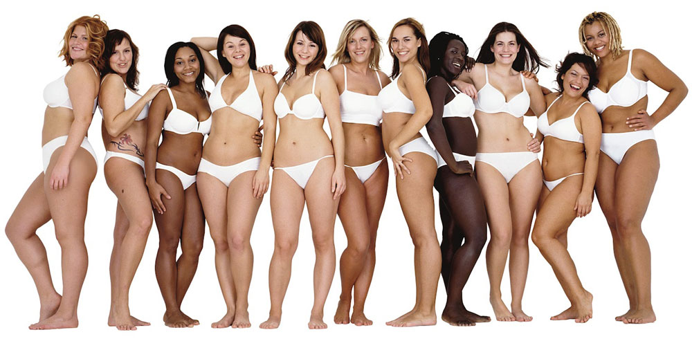 Women of different body sizes