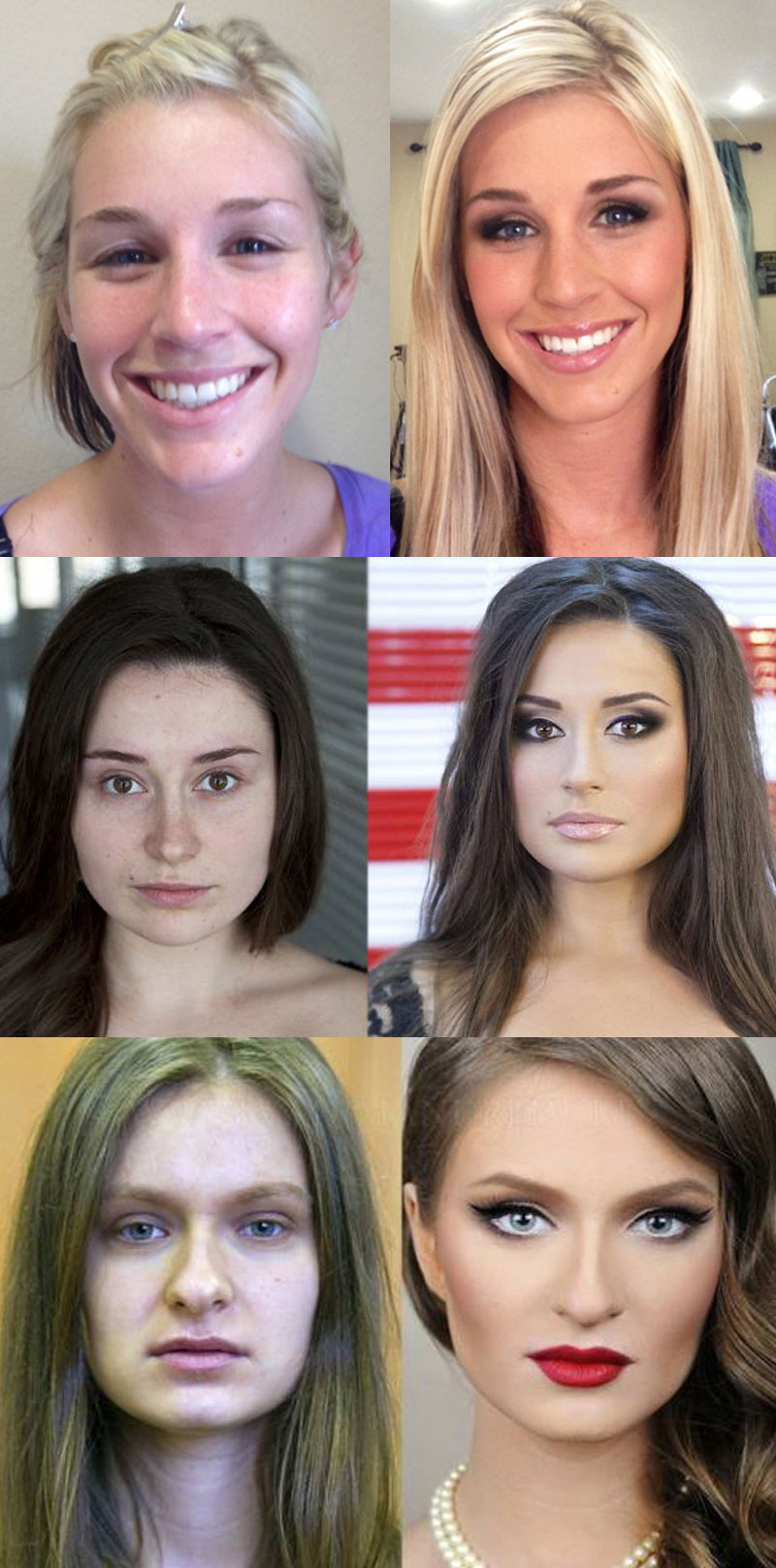 Women - with and without make up